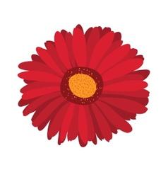 Large pink flower gerbera on background vector