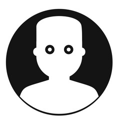 man in the dark icon simple style vector image
