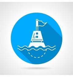 Marine buoy blue round icon vector image