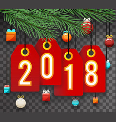 new year 2018 labels symbol icon transperent vector image vector image