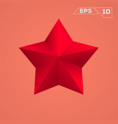 red star icon vector image vector image