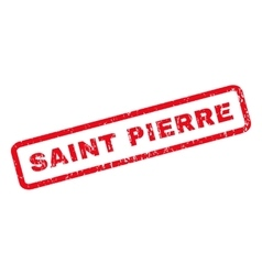 Saint Pierre Rubber Stamp vector image vector image