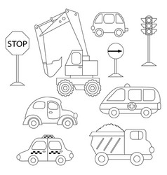 set of various cars vector image