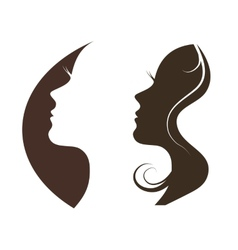 silhouette of a beautiful girl vector image vector image