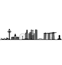 Singapore city skyine reflect vector