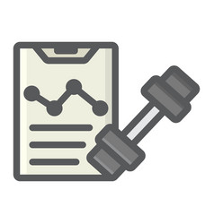 Sport training program filled outline icon vector
