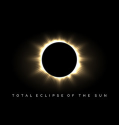 Total eclipse of the sun poster vector