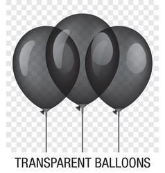 transparent black ballons vector image vector image