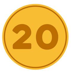 twenty gold coin vector image vector image