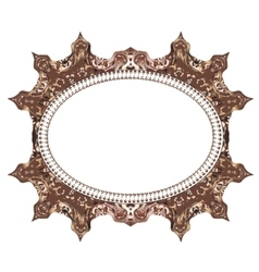 Vintage cards frame with floral mandala pattern vector