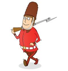 walking royal guard vector image
