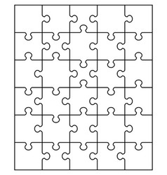 White puzzle separate parts vector