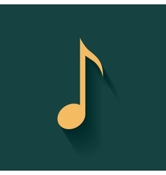 Colorful music note design vector