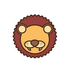 face lion cartoon animal vector image