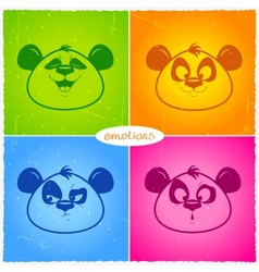 Panda emotions vector