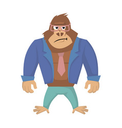 annoyed gorilla of gorilla vector image