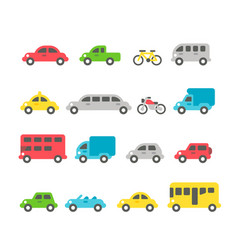 flat design car set vector image