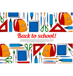Back to school education poster vector