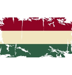 Hungarian grunge flag vector