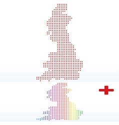 Map of england with with dot pattern vector
