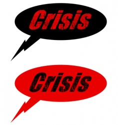 crisis balloon vector image