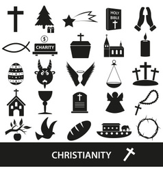 Christianity religion symbols set of icons eps10 vector