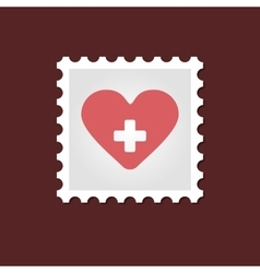 Heart medical stamp vector