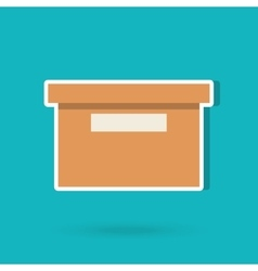 Box carton design vector