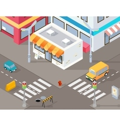 Isometric street or 3d road vector