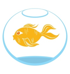 Goldfish symbol vector