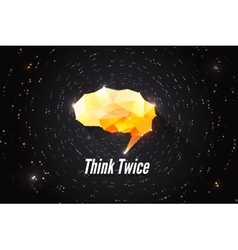 Think twice creative concept of human brain power vector