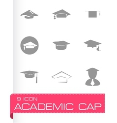 Academic icon set vector