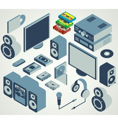 audio video element set vector image