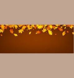Autumn banner with orange leaves vector