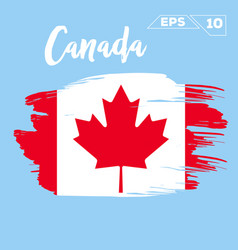 Canada flag brush strokes painted vector