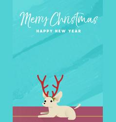 christmas and new year holiday chihuahua dog card vector image