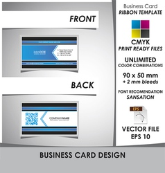 Corporate Business Card Ribbon Template vector image