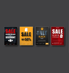 design of posters for sale on a black friday vector image vector image