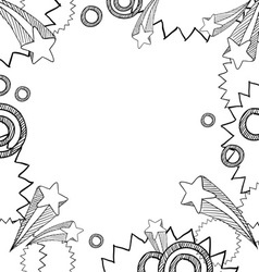 doodle frame pop vector image vector image