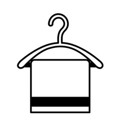 drying hook with towel laundry icon vector image