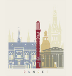 Dundee skyline poster vector