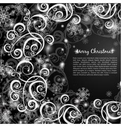 Elegant christmas red background vector