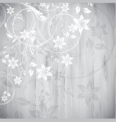 floral design on wood background vector image vector image