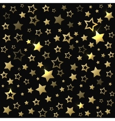 Gold shine stars christmas seamless pattern vector