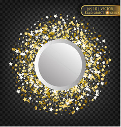 Gold sparkles on a transparent background gold vector