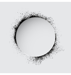 Grunge white circle vector image vector image