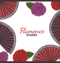 Hand drawn flamenco template vector