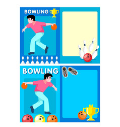 Light bowling club flyers vector