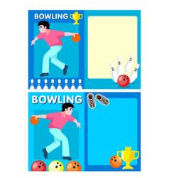 Light bowling club flyers vector