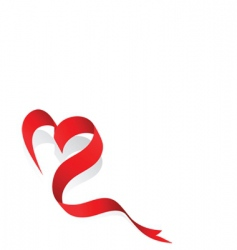 love ribbon vector image vector image